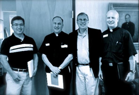 Carlos Vizcaino, Fr. John Harhager, Salvador Arias, and Fr. Bill Rowland